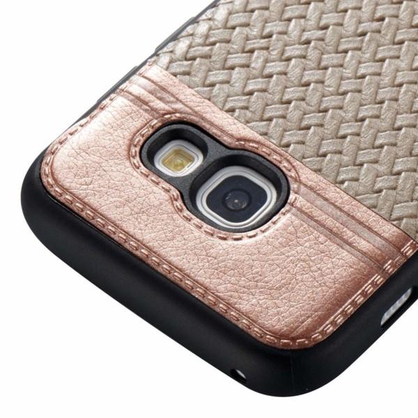 Samsung Galaxy A5 (2017) Flexibelt läder skal - Beige