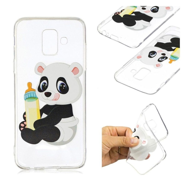 Samsung Galaxy A6 (2018) mobilskal silikon mönster - Panda h