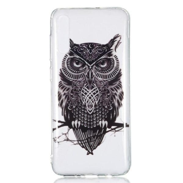 Samsung Galaxy A70 pattern case - Black Owl
