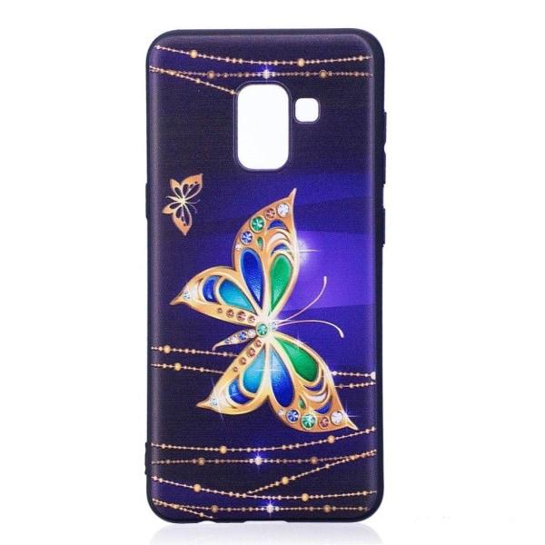 Samsung Galaxy A8 (2018) Skal med ett exotiskt motiv - Guld