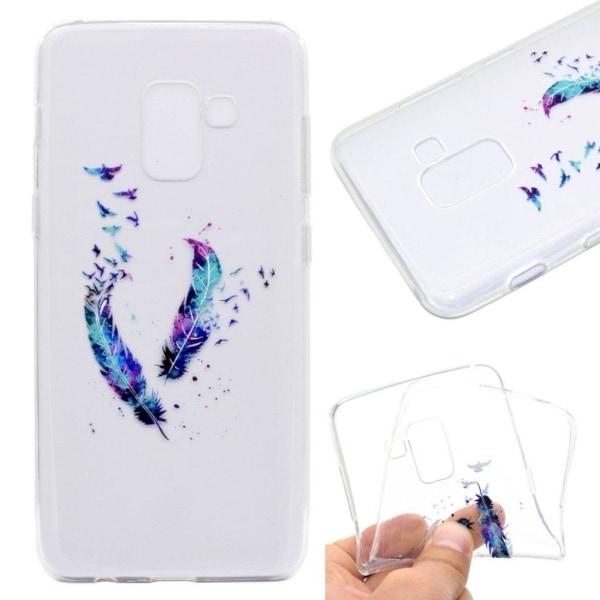 Samsung Galaxy A8 (2018) Skal med vackert motiv - Fjädrar