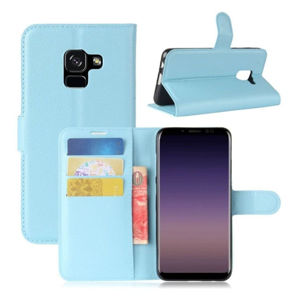 Samsung Galaxy A8 (2018) Snyggt enfärgat fodral - Blå