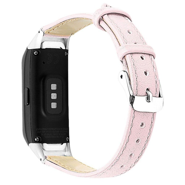 Samsung Galaxy Fit cowhide leather watch band - Pink