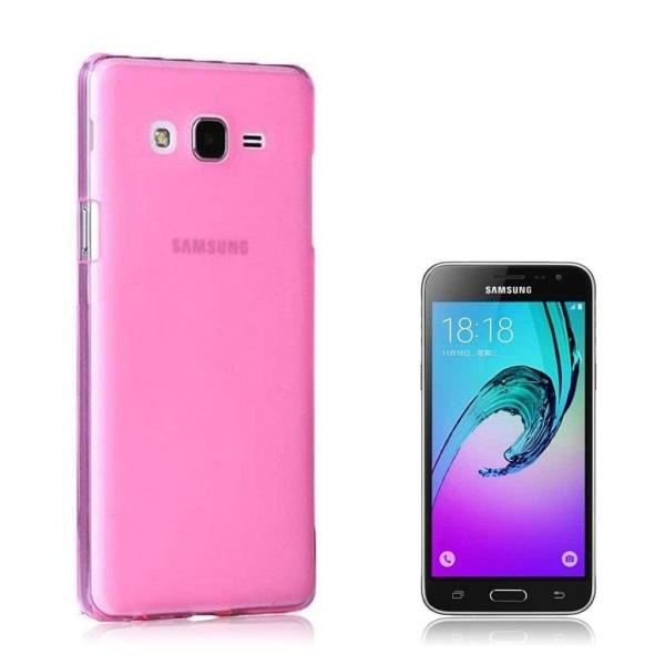 Samsung Galaxy J3 (2016) Transparent Cover (Flexible) (Pink)