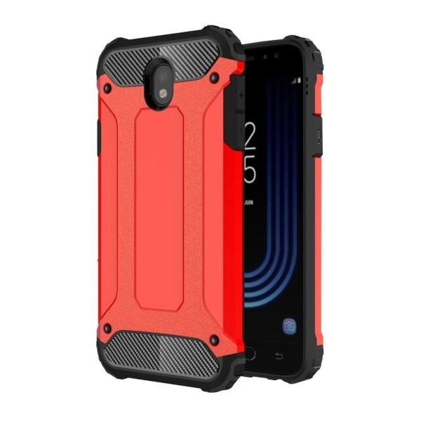 Samsung Galaxy J7 (2017) Tvåfärgat hybird skal - Röd