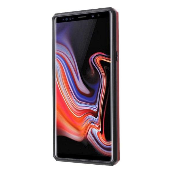 Samsung Galaxy Note 9 mobilskal plast silikon utfällbart stä