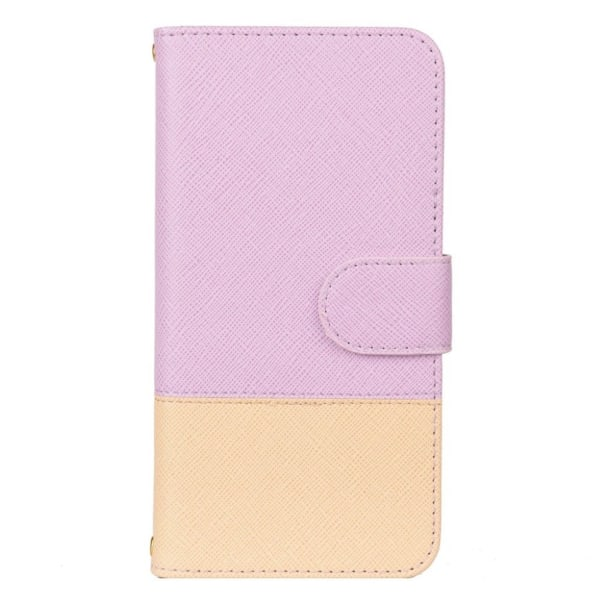 Samsung Galaxy S10e contrast color leather flip case - Purpl