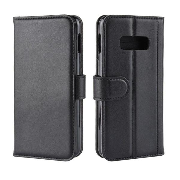 Samsung Galaxy S10e genuine split leather case - Black