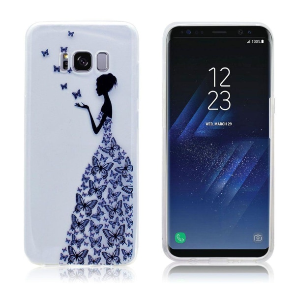 Samsung Galaxy S8 genomskinligt silikonskal - Flicka