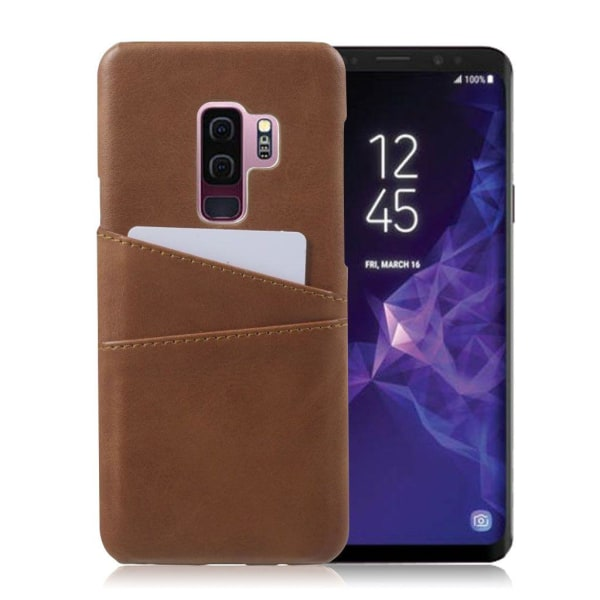 Samsung Galaxy S9 Plus Unikt skal med kortfack - Brun