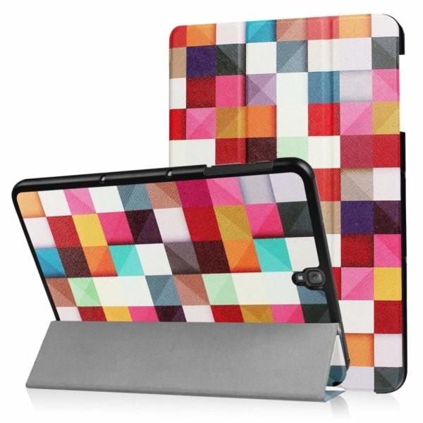 Samsung Galaxy Tab S3 mönster läderfodral - Färgglada triang