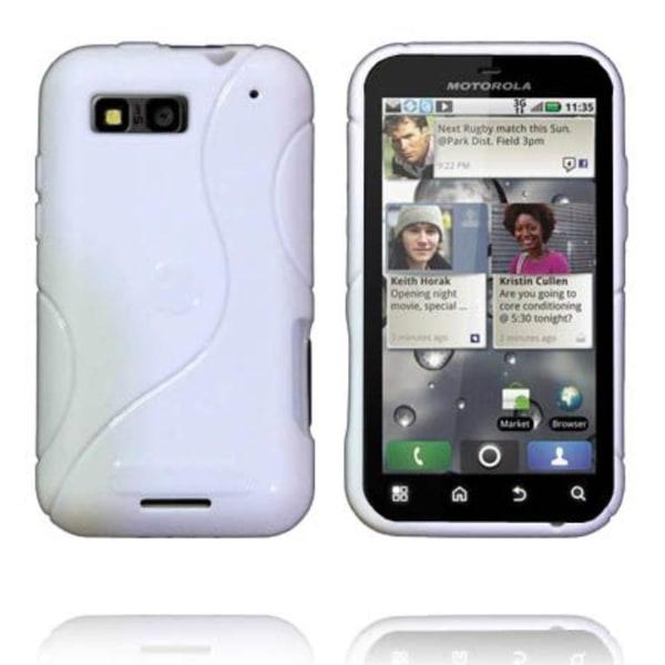 Solid S-Line (Vit) Motorola Defy+ Skal