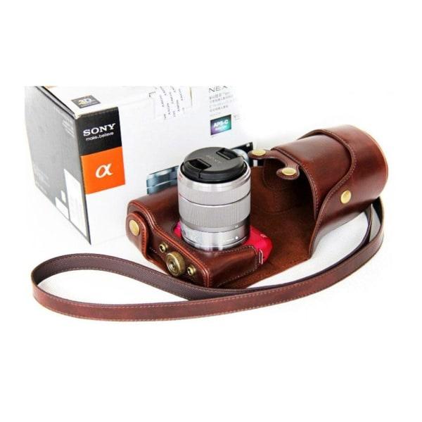 Sony NEX-F3 Bekvämt läder kamera skydd - Brun