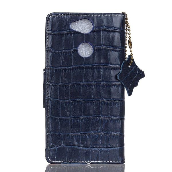 Sony Xperia L2 Krokodil designat fodral i äkta läder - Blå