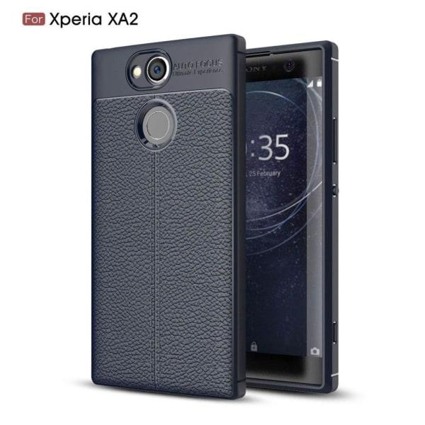 Sony Xperia XA2 Modernt enfärgat skal - Mörk blå