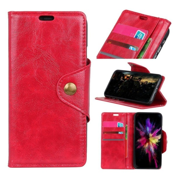 Sony Xperia XZ3 mobilfodral syntetläder silikon stående plån