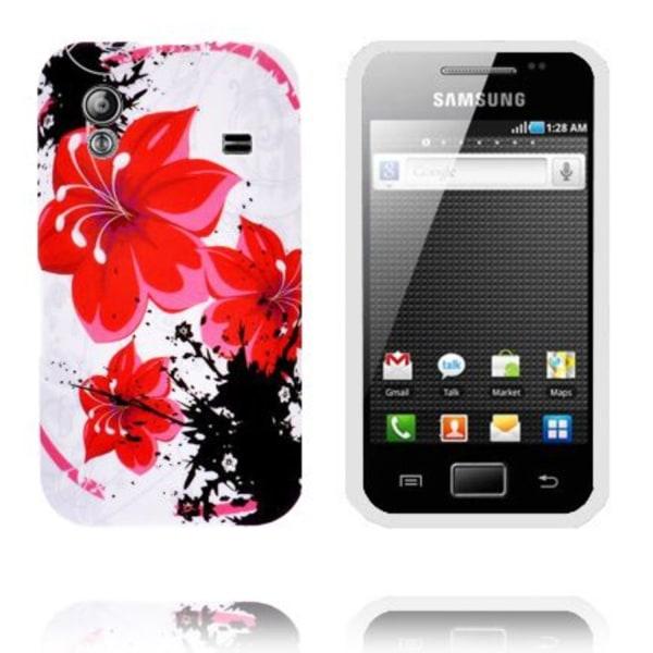 Symphony (Röda Blommor) Samsung Galaxy Ace Silikonskal