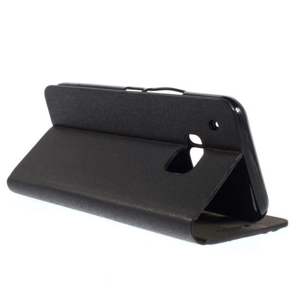 Trenter (Svart) HTC One M9 Läder Fodral med Plånbok