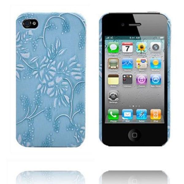 Winter Flowers (Blå) iPhone 4S Skal