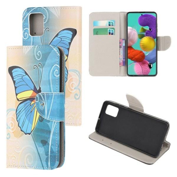 Wonderland Samsung Galaxy A51 flip case - Blue Butterfly