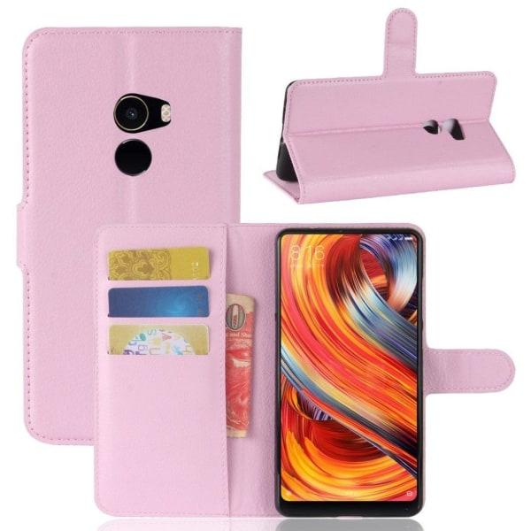 Xiaomi Mi Mix 2 Stilrent skinn fodral - Ljus rosa