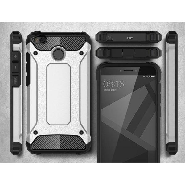 Xiaomi Redmi 4X Hybird skal med förstärkta hörn - Vit