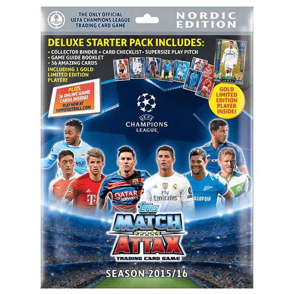 Fotbollskort Champions League 2015-16 Startpaket Nordic Edition