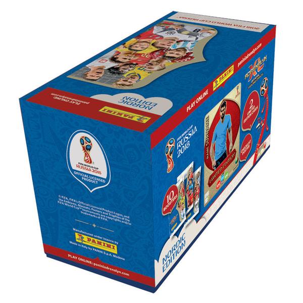 Fotbollskort Giftbox Nordic Edition Panini World Cup 2018