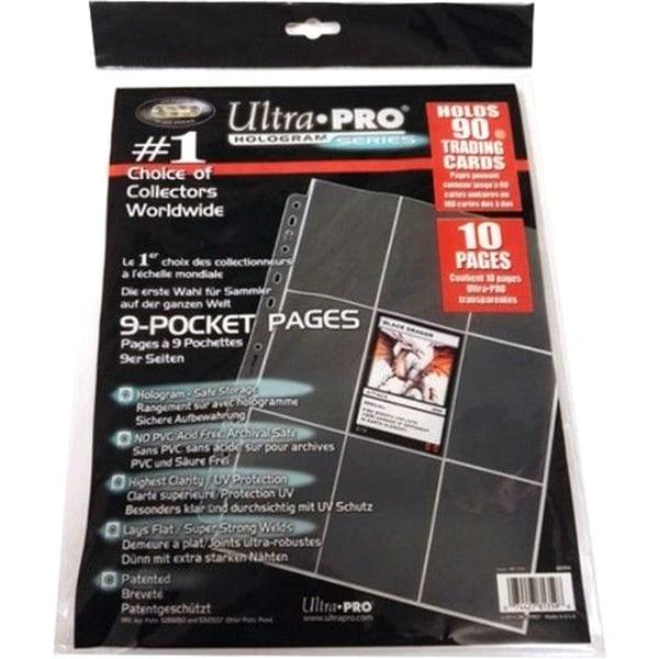 Plastfickor för pärm (10st) - 9-Pocket 11-Hole Platinum Page