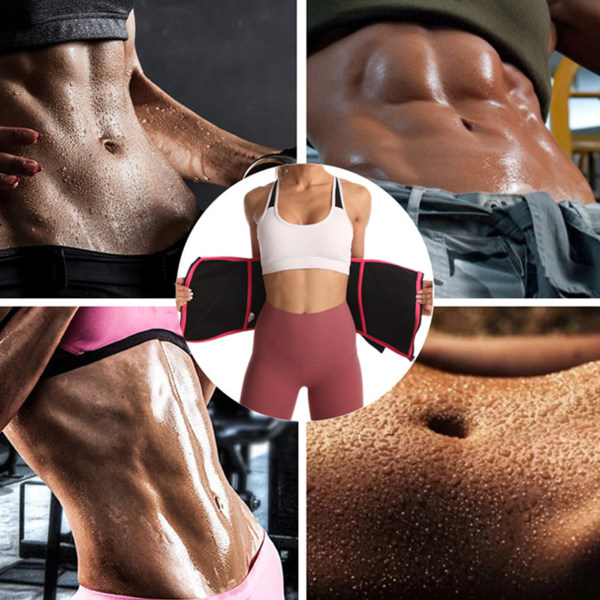 Kvinnors midja Trimmer Belt Trainer Sweat Belly Band Waistband