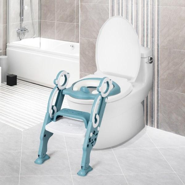 Toalettstege för barn med breda halksteg