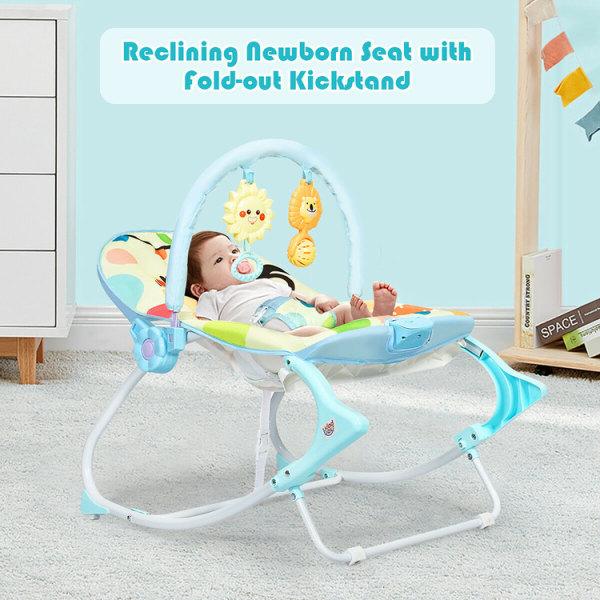 Gungstol för baby - blå