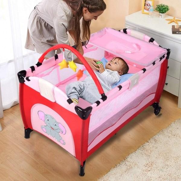 Barnresesäng, resesäng med transportväska