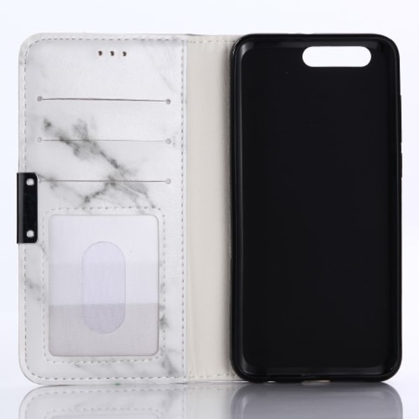 Huawei Honor 9 plånboksfodral wallet - Marmor vit-grå Vit