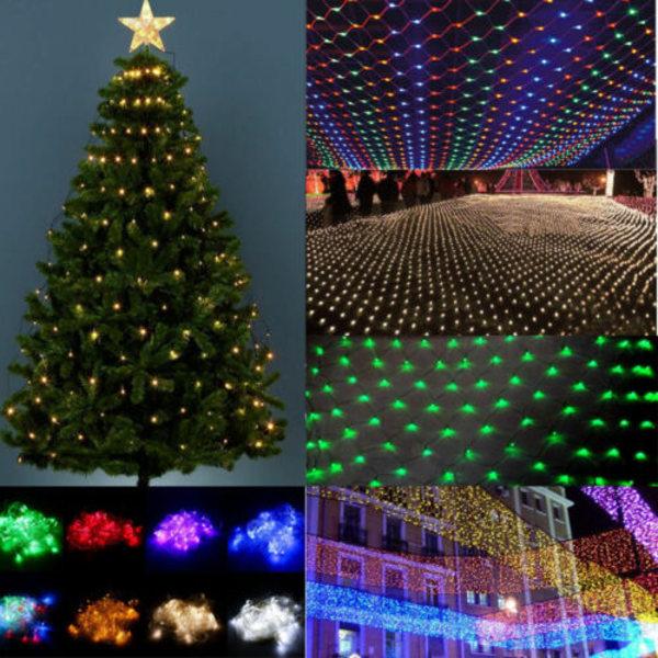 1,5m 2x3m 4x6m LED-ljusnät utomhus jul Xmas Party Decor Multicolor 3*2m
