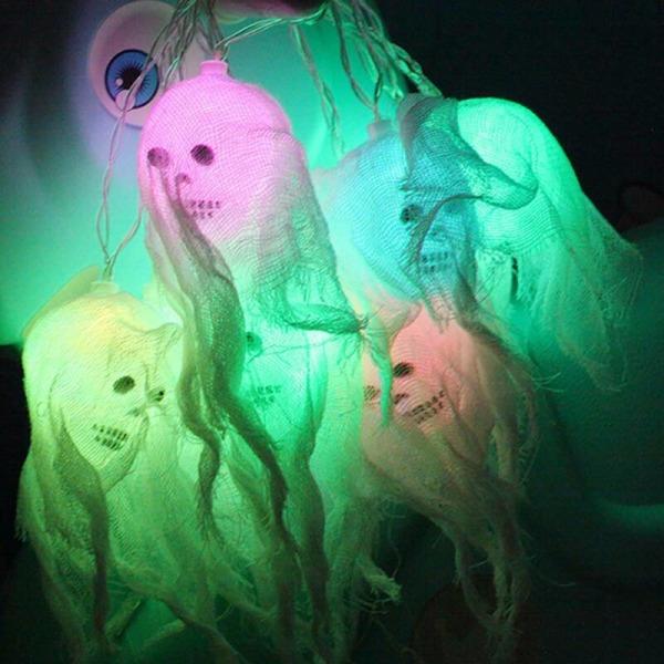 2,5 M Halloween Skull Fairy String Lights Hanging Spooky