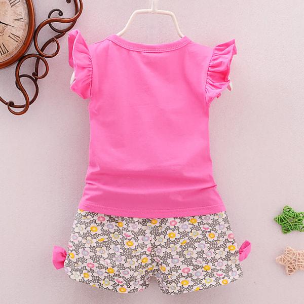 2ST Kid Baby Girls Outfits T-shirt Top Shorts Byxor Kläduppsättning