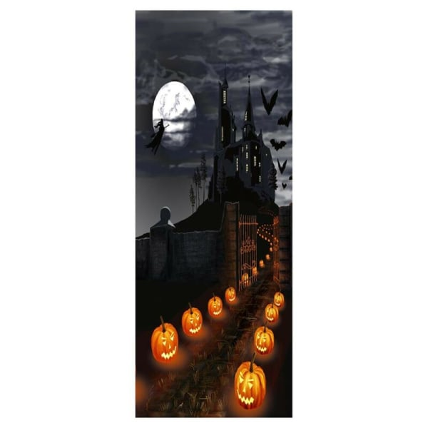 3D Halloween Waterproof Wall Door Decal Stickers Castle Pumpkin 38.5*200cm