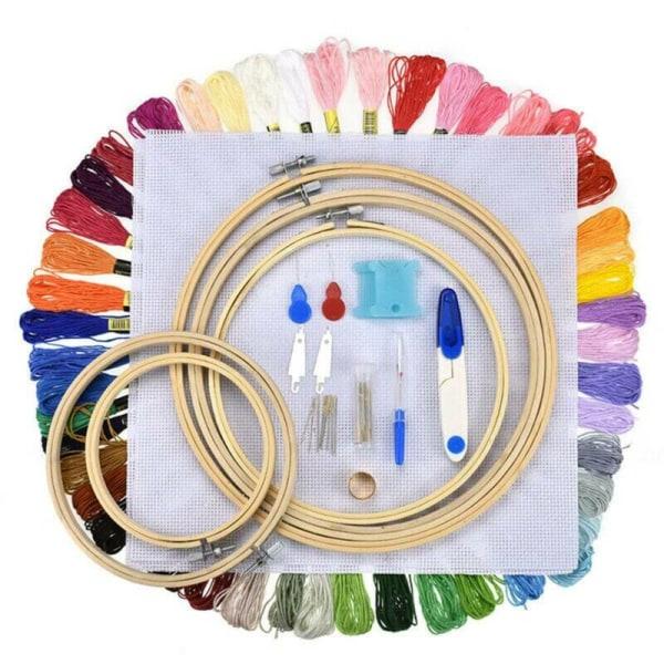 50 sömnadsverktyg för korsstygn i färg