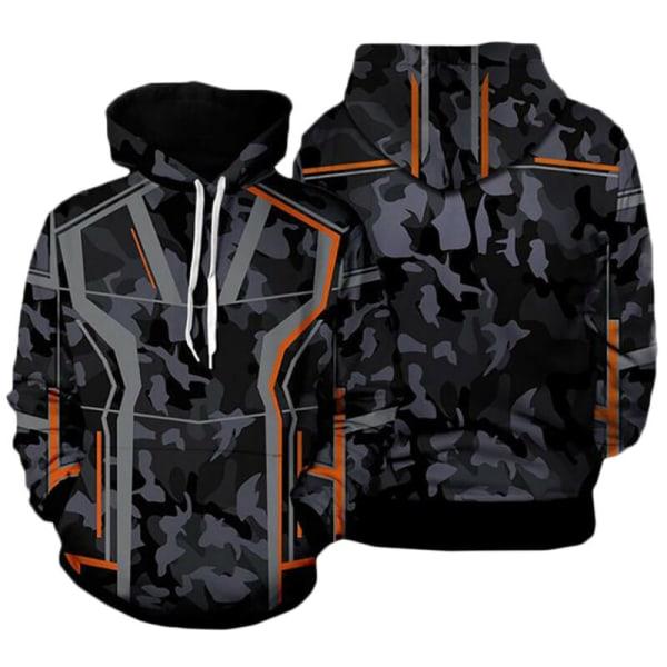 Avengers 4 Superhero Hooded Hoodie Cosplay Sweatshirt Jacket Tony Sweater S