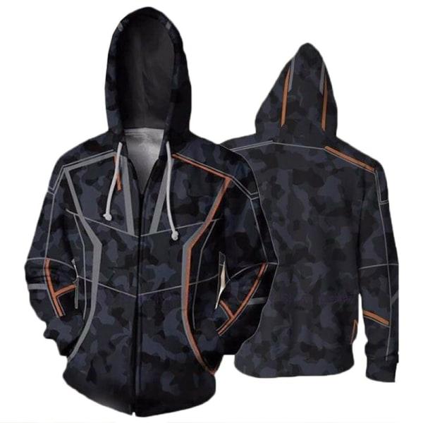 Avengers 4 Superhero Hoody Coat Tops Sweatshirt Jacket Tony coat S