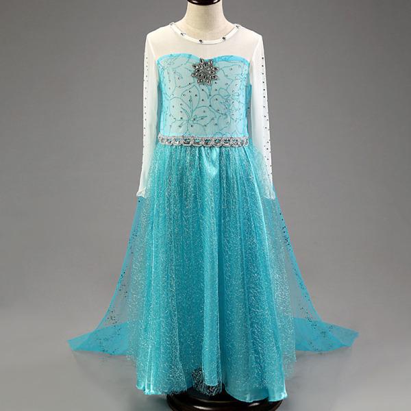 Blue Princess klänning / klänning Holloween Festival kläder Cape blue 110 cm