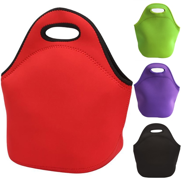 Children Large-capacity Portable Outdoor Hand Carry Lunch Bag black