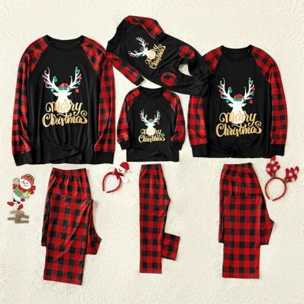 Familj matchande pyjamas jul kvinnor män barn nattkläder set