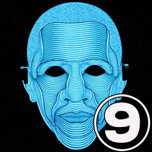Full Face Party Masks LED lysande LED As pics1