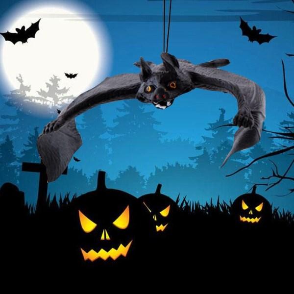 Halloween Bat Decor Scary Simulation Tricky Simulation As pics