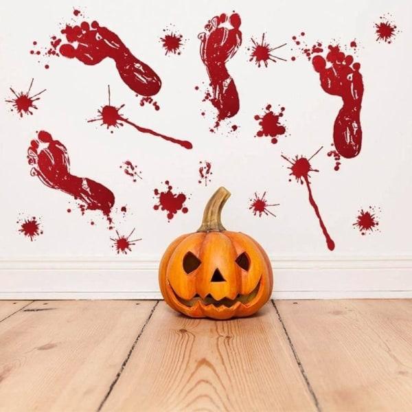 Halloween Print Klistermärken Zombie Party Props Heminredning hand B