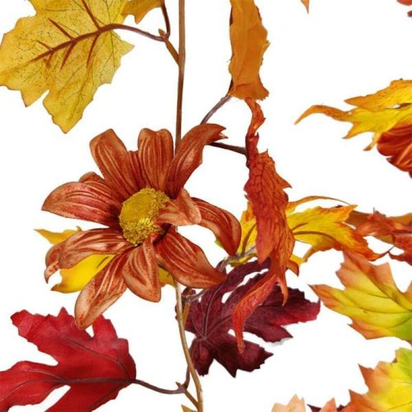 Halloween Decor Fall Pumpkin Wreath Autumn Maple Leaf Garland D