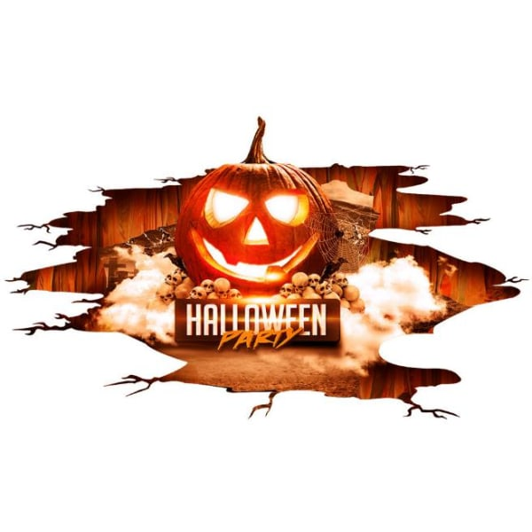Halloween Decoration Flame Pumpkin Halloween Sticker