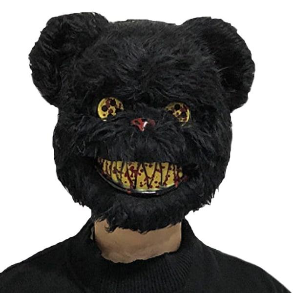 Vuxna Barn Bunny Rabbit Mask Games Halloween kostym Fancy Prop Black